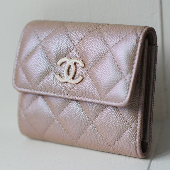 e4003bf365d1 CHANEL Bags   Small Flap Wallet Iridescent Pinkbeige   Poshmark